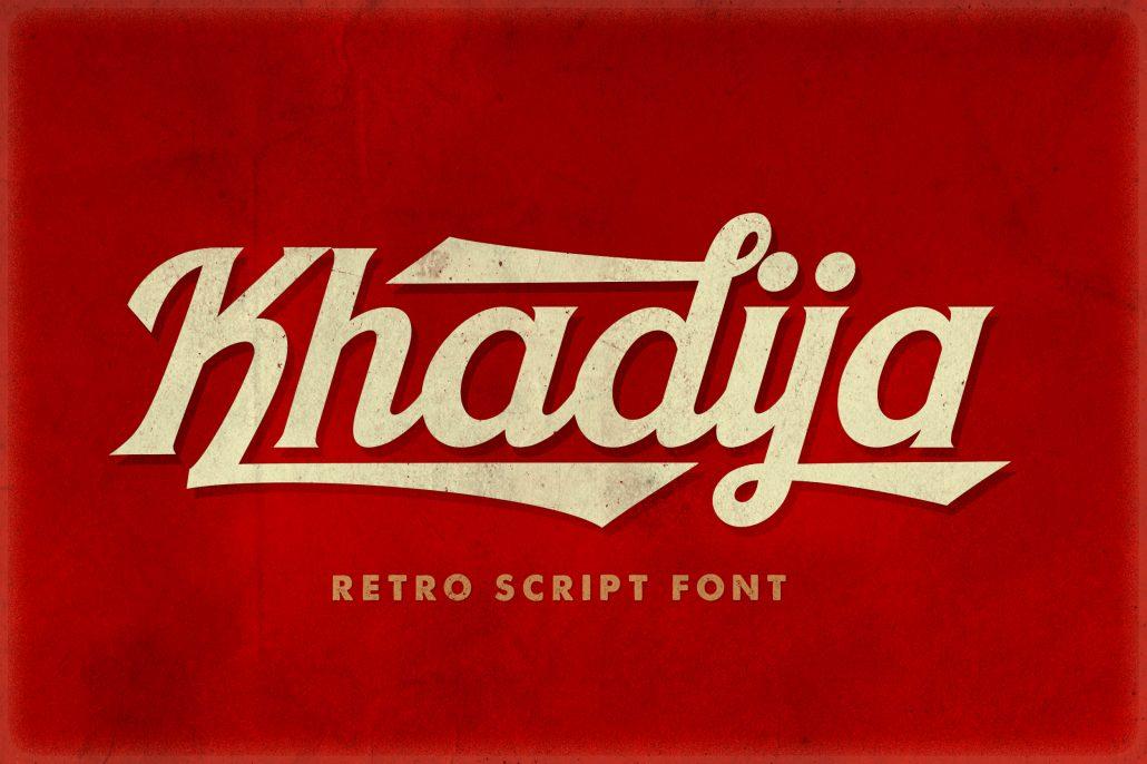 Khadija Script - 4 Fonts - Daily Freebies 024